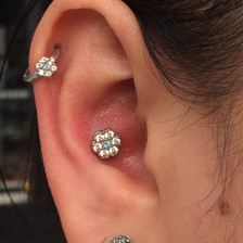 Conch and helix piercings