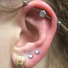 industrial piercing with titanium