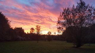 Sunset across the Hay Paddock