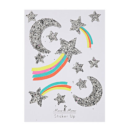 Shooting Star & Moon Glitter Stickers