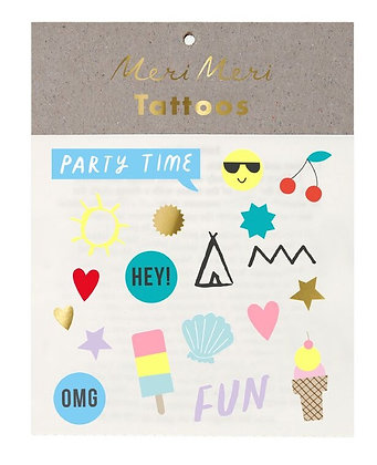 Jazzy Summer Temporary Tattoos