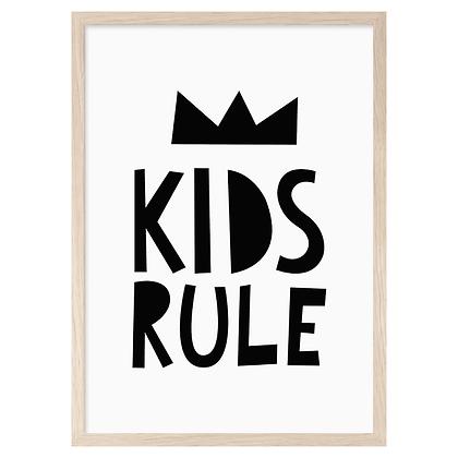 Kids Rule A3 Print