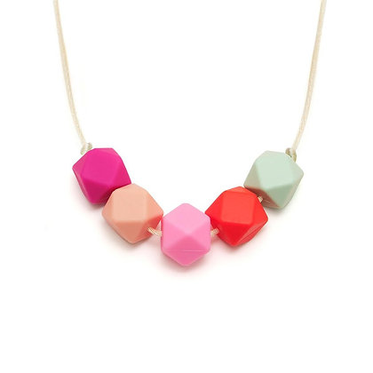 Lara & Ollie Teething Necklace - Flora