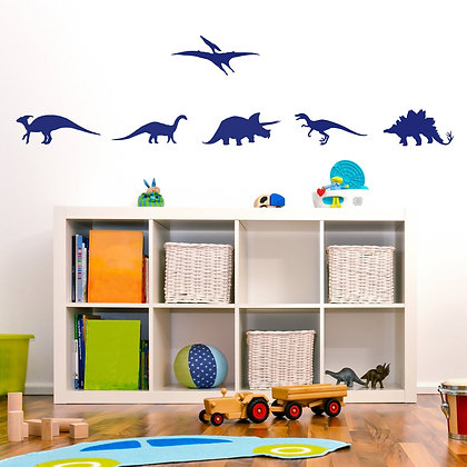 Dinosaur Wall Stickers - Various colours
