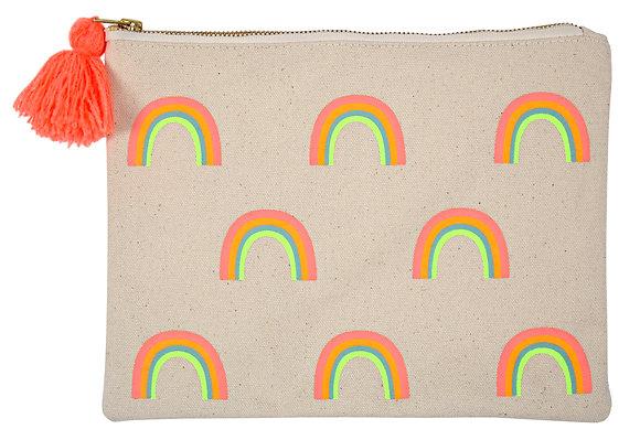 Rainbow Pom Pom Midi-Pouch