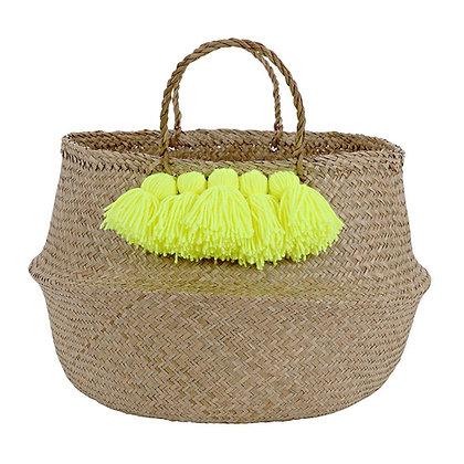 Storage Basket - Neon Yellow