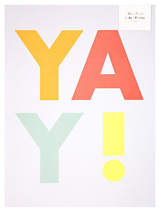 Yay! & Let's Have Fun - 2 Prints (30x40)