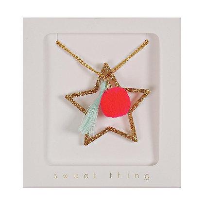Glittery Star Necklace