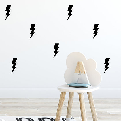 Lightning Bolt Wall Stickers - Various colours