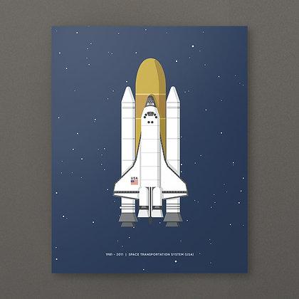 Space Shuttle Print (30x40cm)