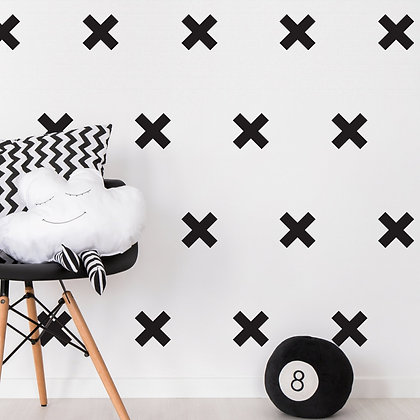 Cross Wall Stickers - Various colours
