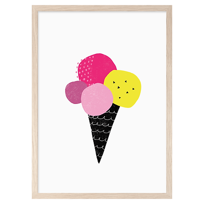 Neon Icecream A3 Print