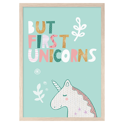 But First Unicorns A3 Print