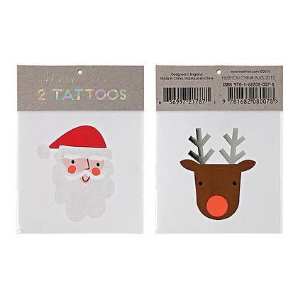 Santa & Reindeer Tattoos
