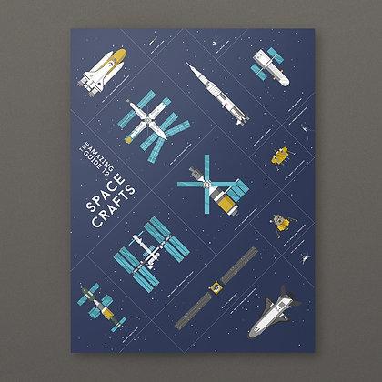 Spacecrafts Print (30x40cm)