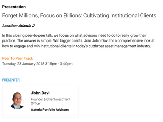 Forget Millions, Focus on Billions: Cultivating Institutional Clients