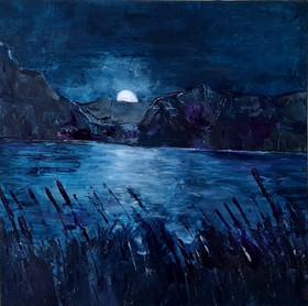 Mondschein über dem See