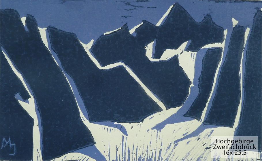 Hochgebirge Zweifachdruck