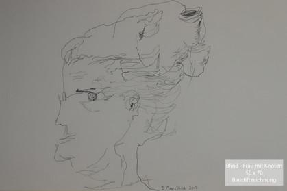 Blind - Frau mit Knoten