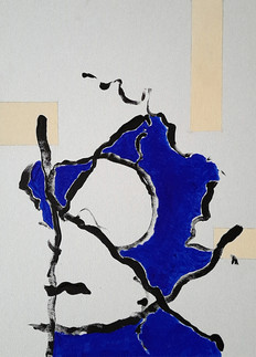 Abstrakt in Blau