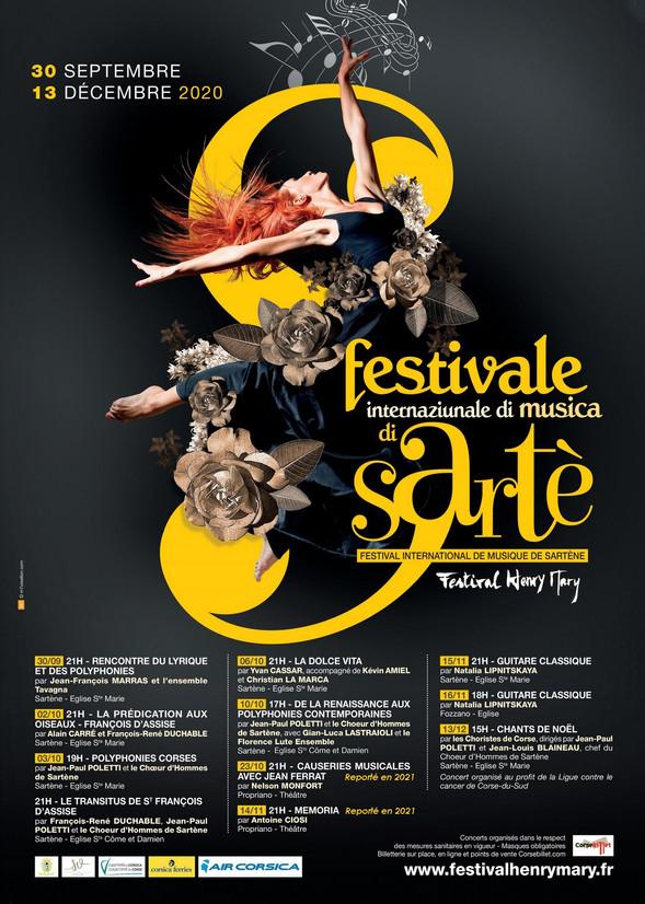 Affiche de l'Edition 2020 du Festival Henry Mary de Sartè