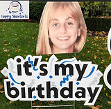 Birthday Sign Big Head Add On