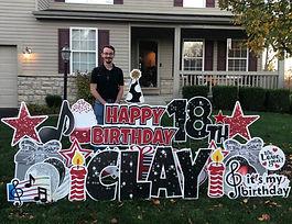 Birthday Yard Sign Columbus, Ohio