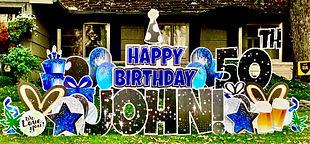 50th birthday yard sign Columbus, Ohio