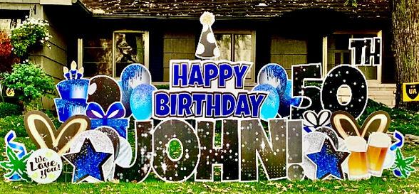 Birthday Yard Sign Upper Arlington Ohio 43221