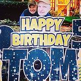 Happy Birthday Yard Sign wiht Big Head