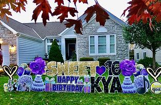 Sweet 16 Birthday Yard Sign Powell, Ohio
