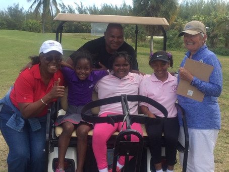 Saketh Hegde wins and captures the tournament flag at the 2018 Abaco Junior Golf Championships.