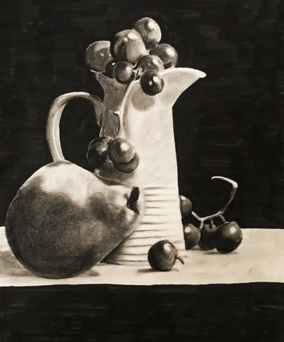 Vase with Fruit Study