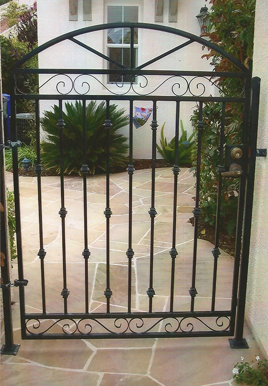 Custom Arched Iron Gate