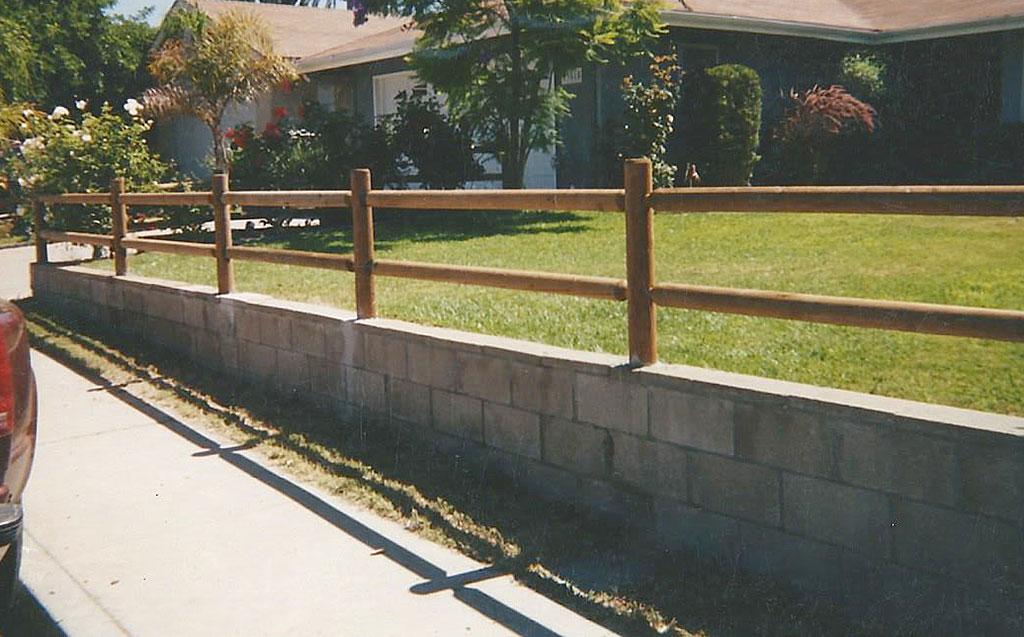 Lodge Pole Wood Fence