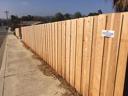 Board on Board Wooden Fence