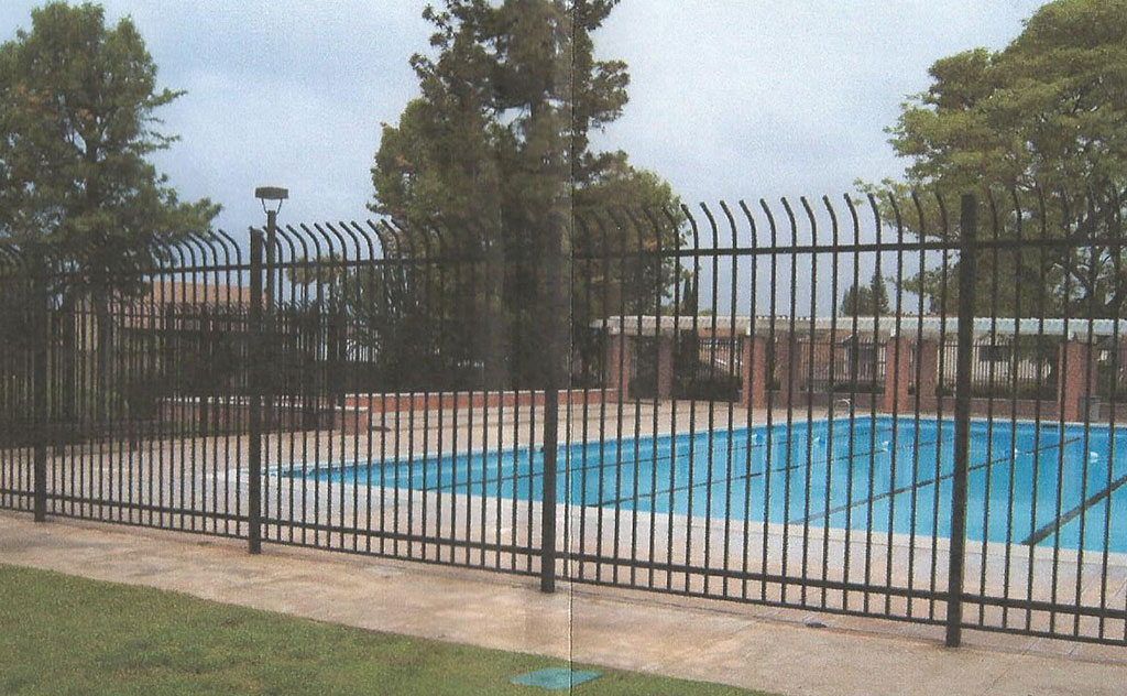 Curved Bermuda Iron Fence