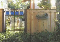 Custom Wood and Glass Iron Gate