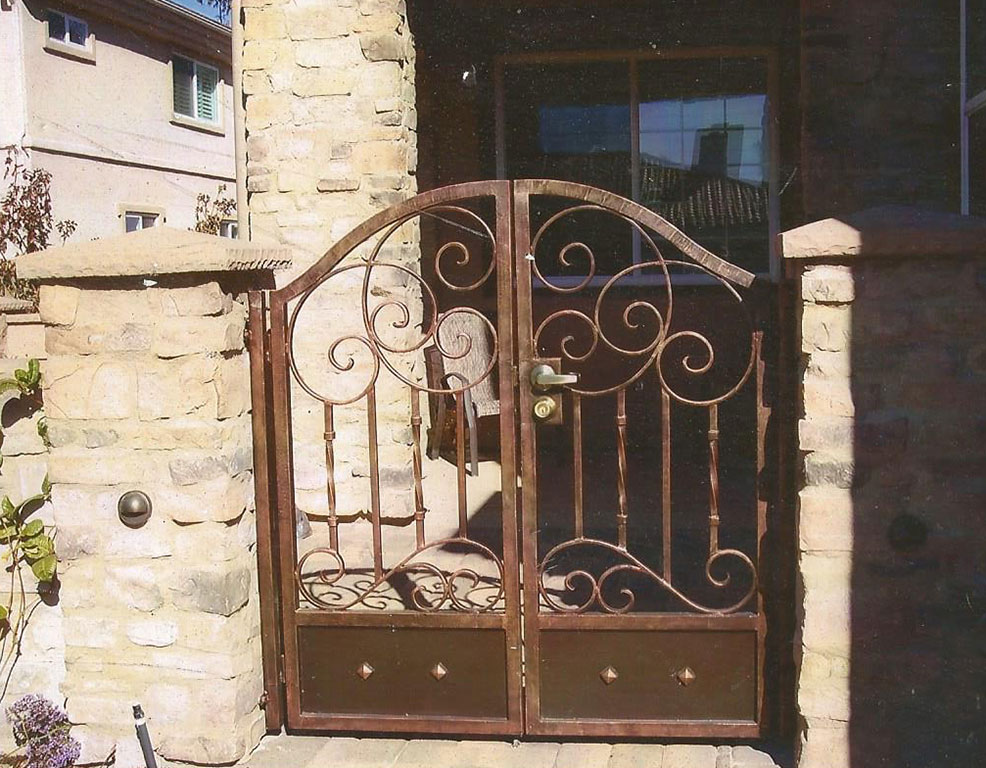 Custom Iron Double Swing Gate