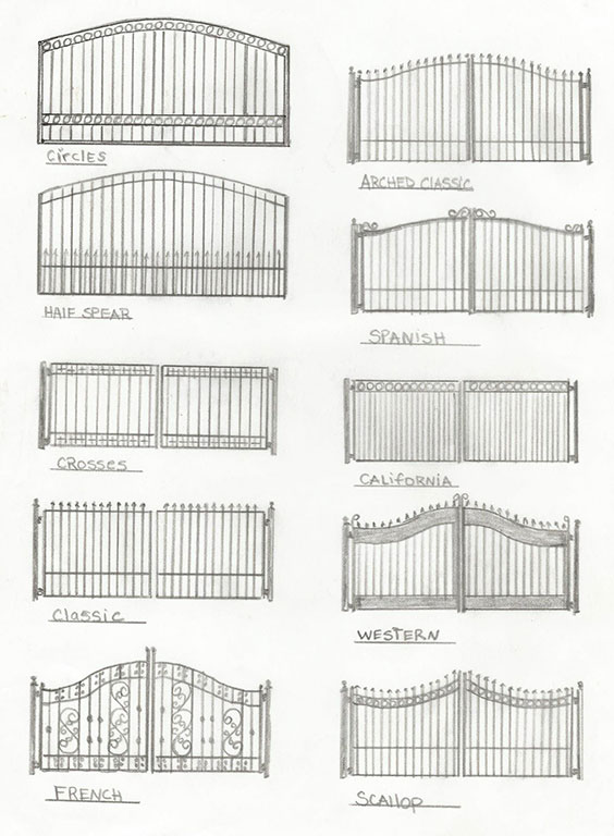 Custom Iron Fence Designs