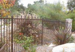 Custom Spear Finial Iron Fence