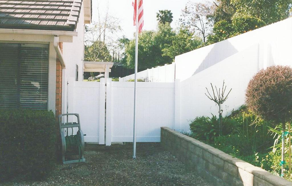 White Vinyl Fencing