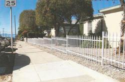 White Iron Spear Top Fence