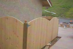 Arched Wood Pool Equipment Enclosure