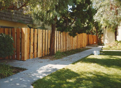 Shadow Box Wood Fence