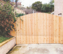 Arched Driveway Double Gate