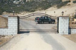 Iron Driveway Gate