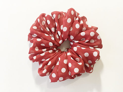 Chiffon scrunchies polka dot large size,Ponytail holder,Hair tie accessories