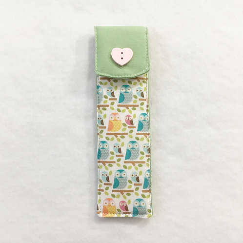 Fabric pen holder,Small pencil pouch,Pen pouch,Small pencil case,Coworker gift