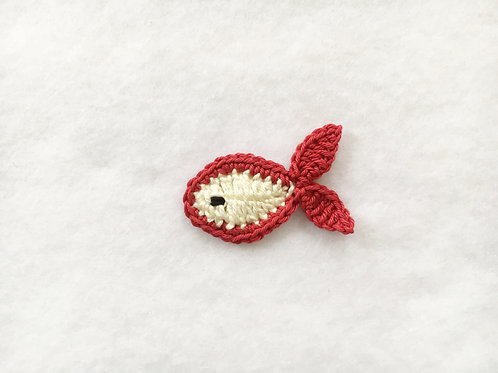Crochet fish appliques,Sew on patches